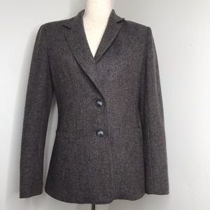 Levi Strauss & Co Houndstooth Wool Blend Blazer